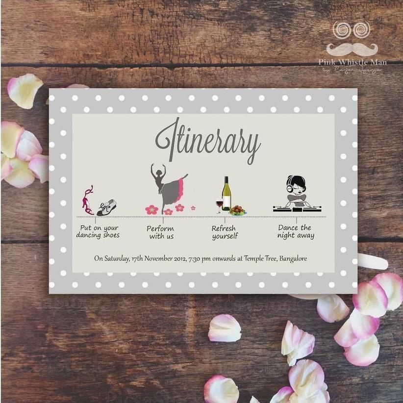 Fun List Christian Wedding Card Design