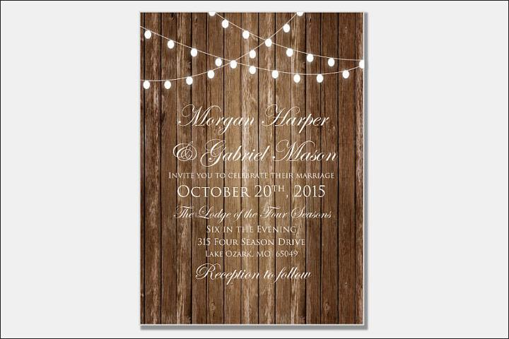 Rustic Christian Wedding Card Design