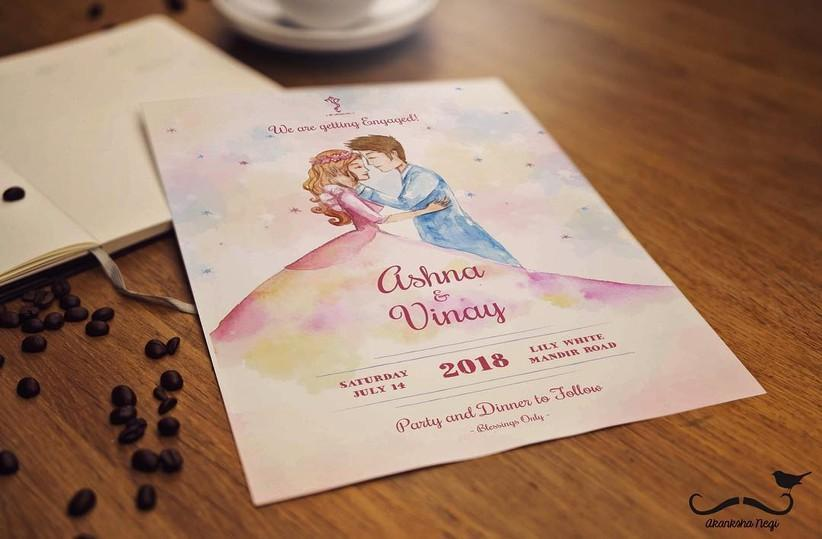 A Fairy Tale Affair Christian Wedding Card Design